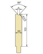 Abkantwerkzeug Typ Trumpf GWD-T006/86°/R0,6