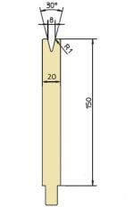 Abkantwerkzeug Typ Trumpf GWD-T008H/30°/R1