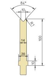 Abkantwerkzeug Typ Trumpf GWD-T010S/84°/R1