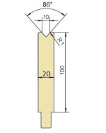 Abkantwerkzeug Typ Trumpf GWD-T010/86°/R1