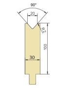 Abkantwerkzeug Typ Trumpf GWD-T020/90°/R2