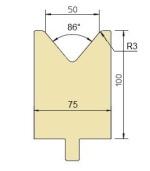 Abkantwerkzeug Typ Trumpf GWD-T050/86°/R3