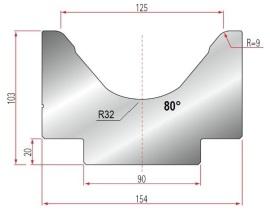 1V-MatrizeTyp Amada 2026/V125-80°-R9