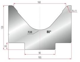 1V-MatrizeTyp Amada 2027/V160-80°-R11