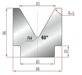 1V-MatrizeTyp Amada GWD-2083/V63-60°-R5