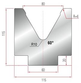 1V-MatrizeTyp Amada GWD-2089/V80-60°-R6