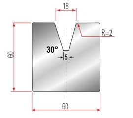 1V-Matrize Typ Amada GWD-2086/V18-30°-R2