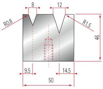Amada 2V-Matrize GWD-2047-30°