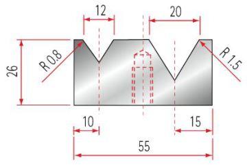 Amada 2V-Matrize GWD-2033-60°