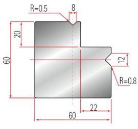 Amada 2V-L-Matrize GWD-2029-90°