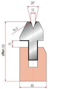 Zudrückmatrize Amada V12-26°
