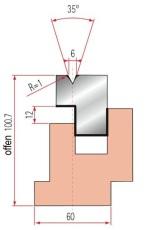 Zudrückmatrize Amada GWD-3037/V6-35°