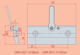 Spannvorrichtung GWA 4021 - GWA 5011