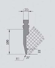 Abkantwerkzeug Typ Wila GWP-W401-28°/R1