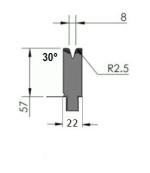 Abkantwerkzeug Typ Pro GWD-W401/V8-30°-R2,5
