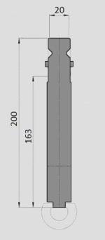 Radienhalter Typ Wila GWR-W024/H163