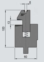 Zudrückmatrize GWD-W001/V6-30°-R1