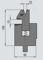 Zudrückmatrize GWD-W002/V10-30°-R1