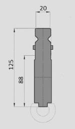 Radienhalter Typ Wila GWR-W004/H88