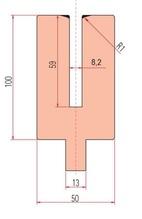Zudrück-Unterwerkzeug Typ Trumpf GWP-3157/S8,2-R1/H100