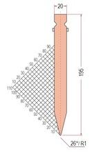 Zudrück-Oberwerkzeug Typ Trumpf GWP-1237-M-26°/R1/H195