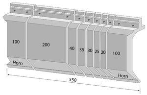 550mm sekt. Unterteilung Wila-Werkzeug