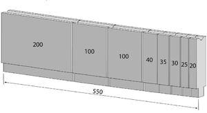 Unterwerkzeug sektioniert 550mm