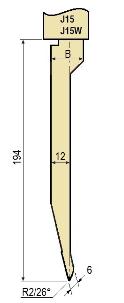 Stempel GWP-LJ15-26°/R2/H194
