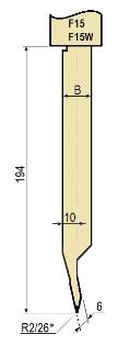 Stempel GWP-LF15-26°/R2/H194