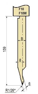 Stempel GWP-LF10-26°/R1/H159