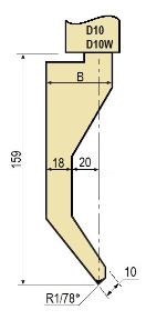 Stempel GWP-LD10-78°/R1/H159