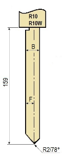 Stempel GWP-LR10-78°/R2/H159
