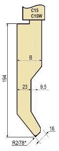 Stempel GWP-LC15-78°/R2/H194