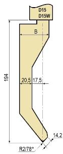 Stempel GWP-LD15-78°/R2/H194