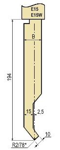 Stempel GWP-LE15-78°/R2/H194