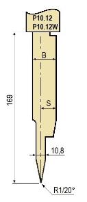Stempel GWP-LP10.12-20°/R1/H169
