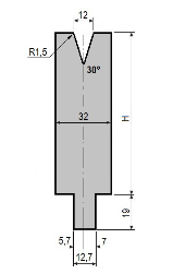 Matrize GWD-L012/V12-30°-R1,5