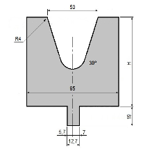 Matrize GWD-L050/V50-30°-R4