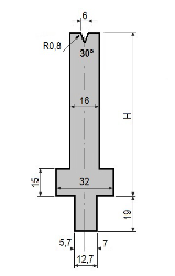 Matrize GWD-L006/V6-30°-R0,8