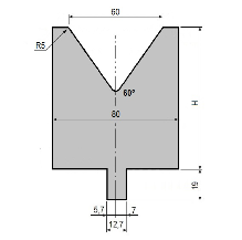 Matrize GWD-L060/V60-60°-R5