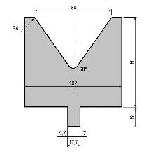 Matrize GWD-L080/V80-60°-R6