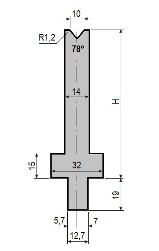 Matrize GWD-L010/V10-78°-R1,2