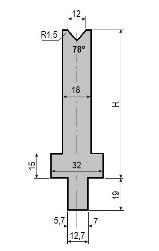 Matrize GWD-L012/V12-78°-R1,5