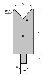 Matrize GWD-L030/V30-78°-R3