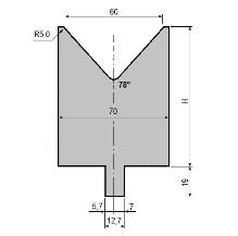 Matrize GWD-L060/V60-78°-R5