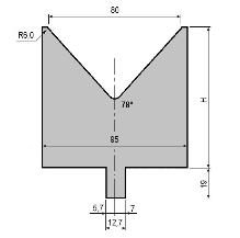 Matrize GWD-L080/V80-78°-R6