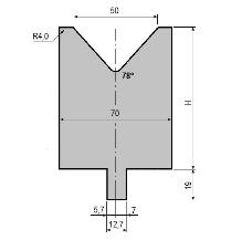 Matrize GWD-L050/V50-78°-R4