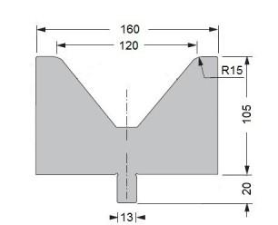 Abkantwerkzeug Typ Bystronic V120 80°