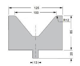 Abkantwerkzeug Typ Bystronic V100 80°