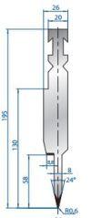 Abkantwerkzeug Typ Bystronic V40 60°
